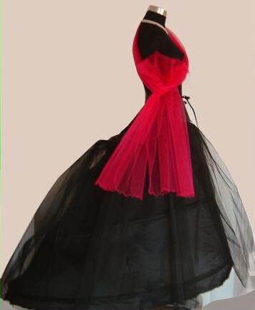 spodnice 3 kruhy - pro šaty s vlečkou nebo honzíkem černá
